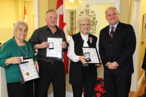 Community Service Medallion Recipients; Kay Buttery, Jim Coombes, Mary Tillcock